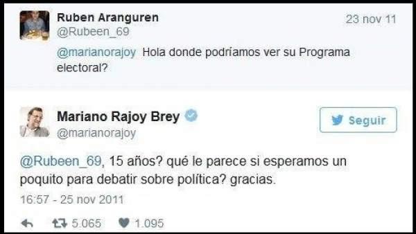 Un tuitero se venga de Rajoy