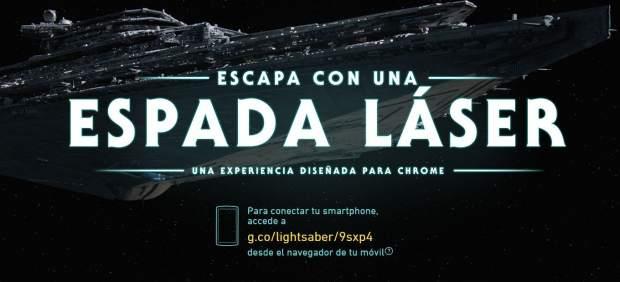 Un juego de Google convierte el teléfono móvil en la espada láser de 'Star Wars'