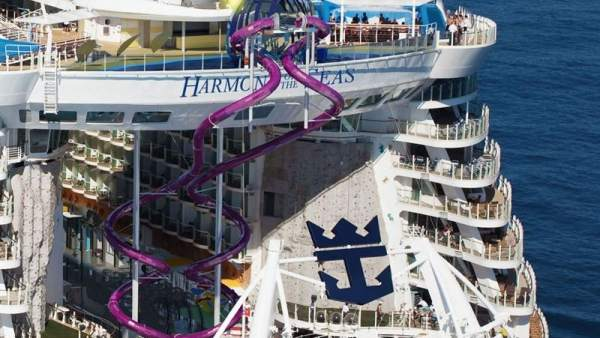 El tobogán del Harmony of the Seas