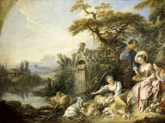 François Boucher, The Nest, also known as The Shepherd's Gift