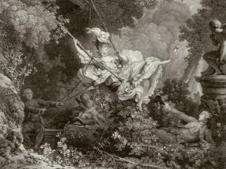 Nicolas de Launay after Jean-Honoré Fragonard, The happy coincidences of the swing, 1782