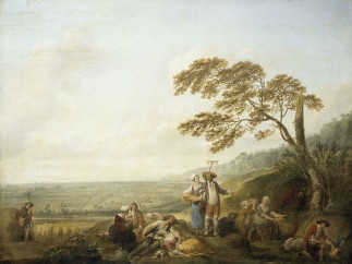 Louis Watteau, Midday or Rest and dinner for the field workers, 1774