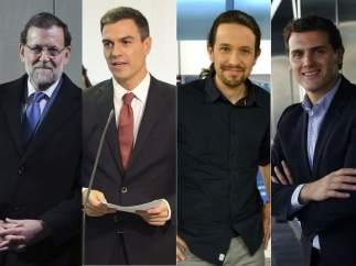 Cinco candidatos a presidir el Gobierno este 20-D
