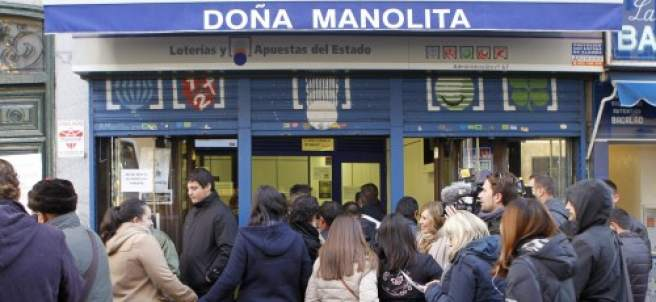 La Administración de Lotería de Doña Manolita, en Madrid, en una imagen de archivo.