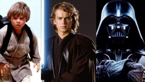 Anakin Skywalker (niño, joven y Darth Vader)