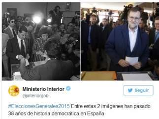 Polémico tuit del Ministerio del Interior