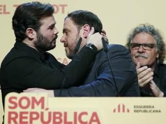 Jordi Tardá, Gabriel Rufian y Oriol Jonqueras