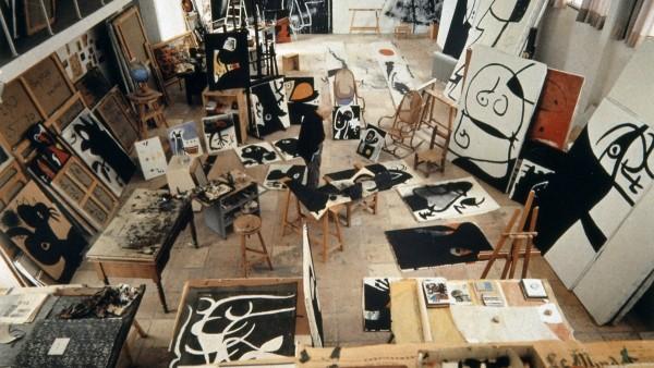 Joan Miró's studio, Mallorca, 1973