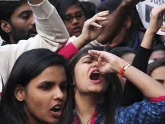 Protesta por la liberación de un violador en India