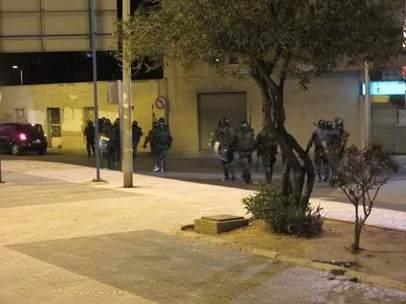 Disturbios en Roquetas de Mar