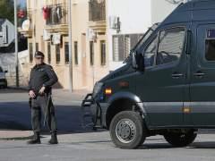 Policías en Roquetas de Mar