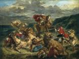Eugène Delacroix - Lion Hunt, 1861