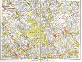 Geographers' Atlas of Greater London, Geographers A-Z Map Company, London 1956