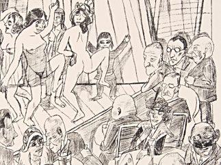 """Aus dem Mappenwerk """"Berliner Reise"""", Blatt 4: Nackttanz, 1922"""