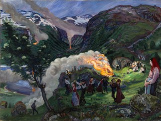 Nikolai Astrup, Midsummer Eve Bonfire, Before 1915