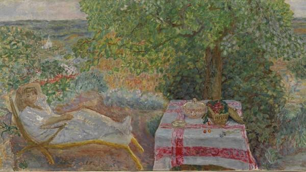 Pierre Bonnard, Resting in the Garden (Sieste au jardin), 1914