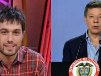 Dani Martínez y Juan Manuel Santos