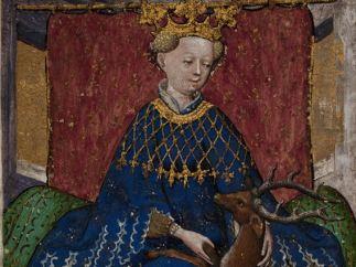Queen of Stags from The Stuttgart Playing Cards (Das Stuttgarter Kartenspiel), ca. 1430