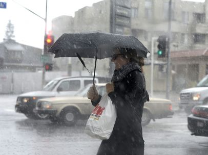 Fuertes lluvias en California