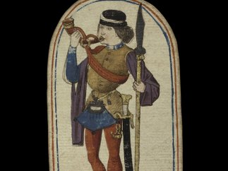 Knave of Horns from The Cloisters Playing Cards, ca. 1475–80
