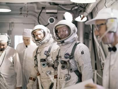Los astronautas  Neil A. Armstrong y David R. Scott