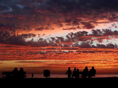 Atardecer nuboso en Gaza