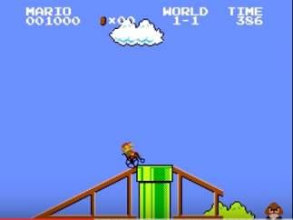 Mario Bros en silla de ruedas