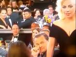 Lady Gaga DiCaprio Globos Oro 2015.