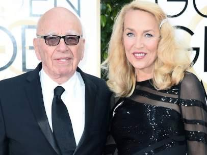 Rupert Murdoch y Jerry Hall
