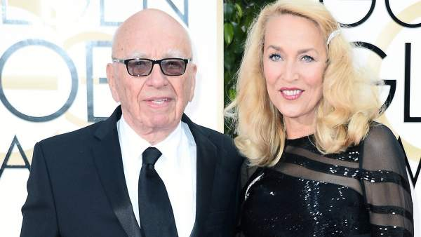 Rupert Murdoch y Jerry Hall