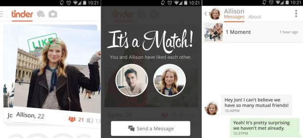 La 'app' móvil Tinder clasifica de forma oculta a sus usuarios según lo deseables que son