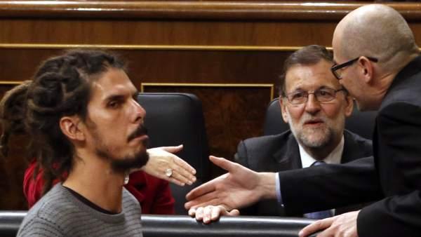 El diputado Alberto Rodríguez, de Podemos