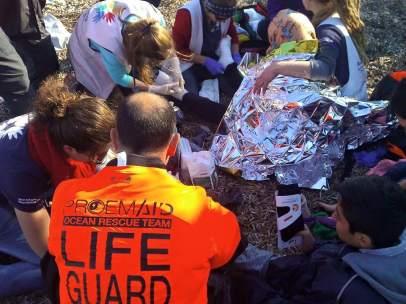 Voluntarios españoles en Lesbos