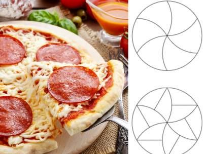 Porciones de pizza perfectas