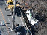 Grave accidente de autobús en Japón