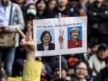 Presidenta de Taiwan y la de Alemania.