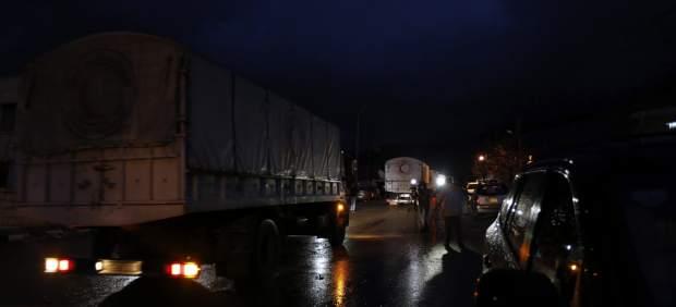 Convoyes entrando en Madaya