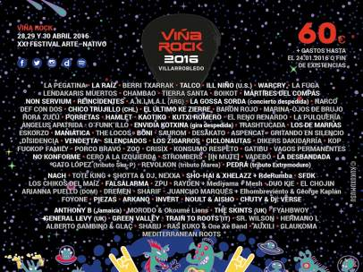 Cartel de Viña Rock 2016