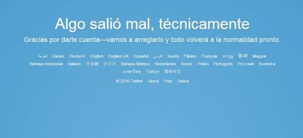 Twitter se cae casi dos horas por un fallo técnico a nivel mundial