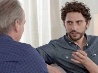 Paco León, con Bertín Osborne