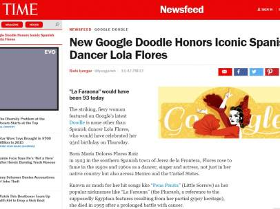 Lola Flores y el doodle de Google en TIME
