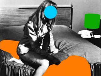 'Person on Bed (blue): With Large Shadow (orange) and Lamp (green)', 2004