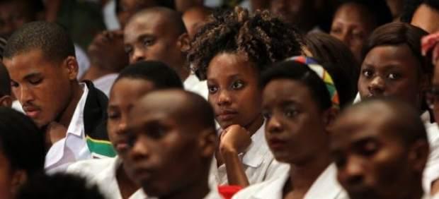 Estudiantes de Sudáfrica