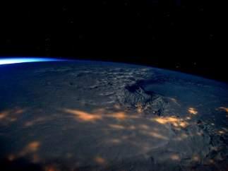La tormenta Jonas, desde el Espacio