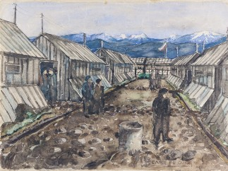 Leo Breuer - Pfad zwischen den Baracken / Path between the Barracks, 1941