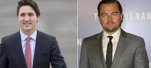 Justin Trudeau y Leonardo DiCaprio