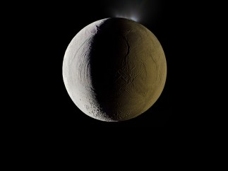 Enceladus vents water into space