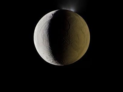 Enceladus vents water into space