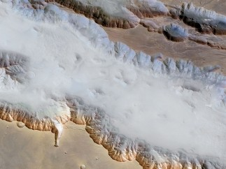 Ground fog in Valles Marineris