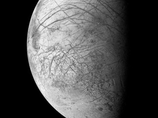 Europa, an ice-covered ocean moon